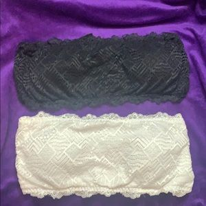 Strapless lace bras